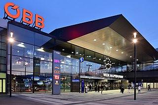 Wien Hauptbahnhof railway station in Vienna, Austria