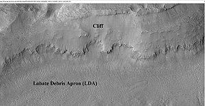 Fretted terrain - Image: Wikifretesp 028313 2220cliff
