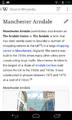 Wikipedia Android app on Manchester Arndale.png