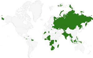 Wikipedia Zero countries as of April 2 2015.png