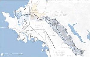 Wildcat Creek (California) - Watershed Map of Wildcat Creek 2009