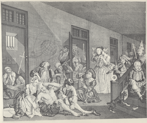 William Hogarth - A Rake's Progress, Plate 8 (Orig, unfinished)