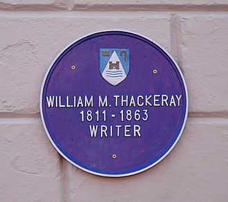 Lismore, County Waterford - Image: William Thackeray plaque, Lismore, Co. Waterford, Ireland