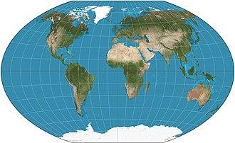 World map - Image: Winkel triple projection SW