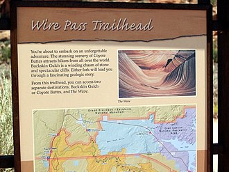 Wire Pass Trailhead - Sign at the Wire Pass Trailhead