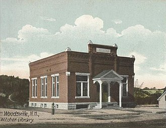 Woodsville, New Hampshire - Free Public Library in 1907