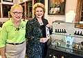 With Ginger Smietana, owner of Edgin Creations in Paw Paw. (30250610886).jpg