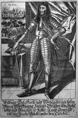 Siege of Novi Zrin (1664) - Image: Wolfgang Julius Graf von Hohenlohe Neuenstein Neuenstein (1622 1698)