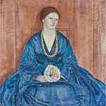 Woman with a Blue Dress by Frederick Carl Frieseke, 1917.jpg