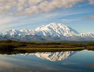 Denali - From the north, with Wonder Lake in the foreground