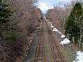 Worcester Line from Kingsbury Street, Wellesley, March 2013.JPG