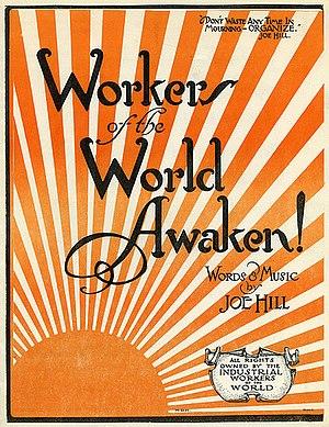 Proletarian poetry - Image: Workers of the World Awaken!