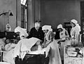 World War I; doctor and nurse treating a wounded soldier Wellcome L0009336.jpg
