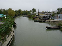 A canal in Vylkove