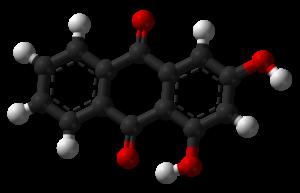1,3-Dihydroxyanthraquinone - Image: Xanthopurpurin 3D balls