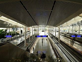 Xiamen railway station - Xiamen railway station Platform