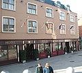 Y Ddraig Goch flies proudly over Store Street - geograph.org.uk - 1719555.jpg