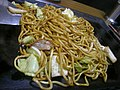 Yaki-soba on iron plate by jetalone at Mifune restaurant, Osaka.jpg