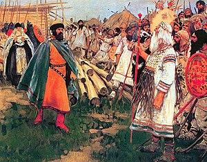 Yan Vyshatich - Yan Vyshatich meets tribesmen
