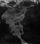Yanert Glacier, terminus of valley glacier, terminus is turning into a rock glacier, Agusut 13, 1961 (GLACIERS 5092).jpg