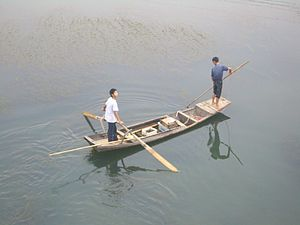 Fishing industry in China - Fishermen on the Fushui River, China