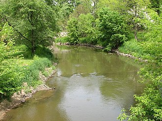 Yellow River (Indiana) - The Yellow River in Plymouth in 2006
