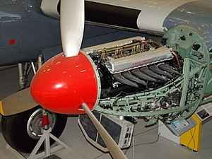 Aircraft engine - A Rolls-Royce Merlin installed in a preserved Avro York