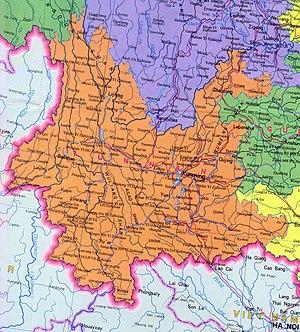 Yunnan clique - The Yunnan clique held all of the lands in orange.