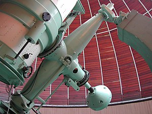 Merate Astronomical Observatory - Image: Zeiss di Merate incrocio assi