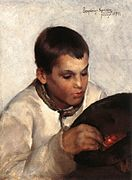 Zemplényi, Tivadar - Boy with Cherries (1894).jpg