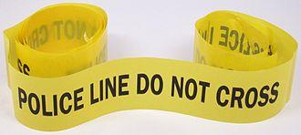"""Crime scene - Image: """"Police Line"""" Tape"""