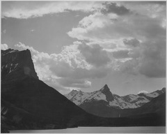 """St. Mary's Lake, Glacier National Park,"" Montana, 1933 - 1942 - NARA - 519869.tif"