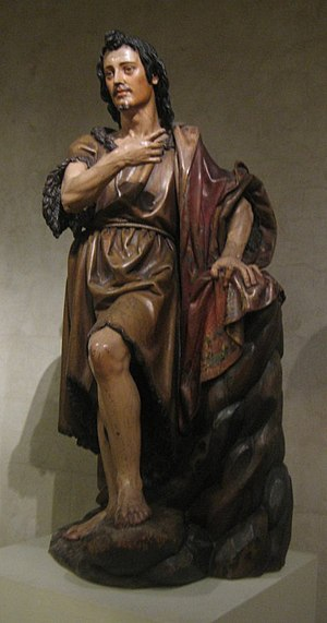 Juan Martínez Montañés - 'Saint John the Baptist', painted and gilded wood statue by Juan Martínez Montañés, Spanish, 1st third of 17th century, Metropolitan Museum of Art