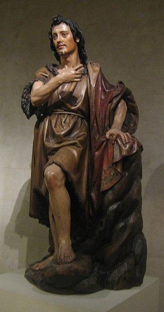 Juan Martínez Montañés - 'Saint John the Baptist', painted and gilded wood statue by Juan Martínez Montañés, Spanish, 1st third of 17th century, Metropolitan Museum of Art