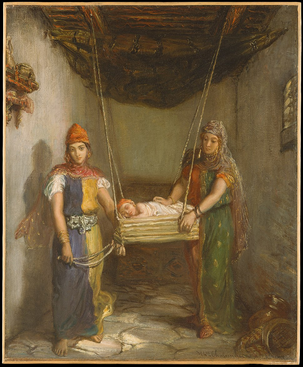 'Scene in the Jewish Quarter of Constantine' by Théodore Chassériau, 1851