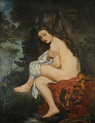 Suzanne Manet - Image: Édouard MANET La Nymphe surprise Google Art Project