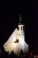 Żary, kościół p.w. św. Barbary, ob. garnizonowy p.w. Podwyższenia Krzyża, nocą.jpg