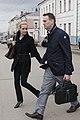 Алексей и Юлия Навальные после одного из заседаний суда.JPG