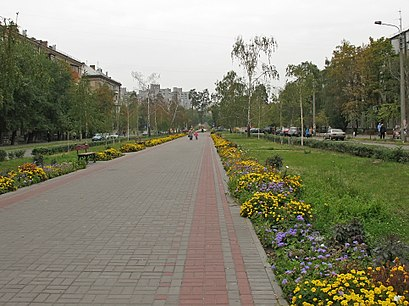 How to get to бульвар Праці 1 with public transit - About the place