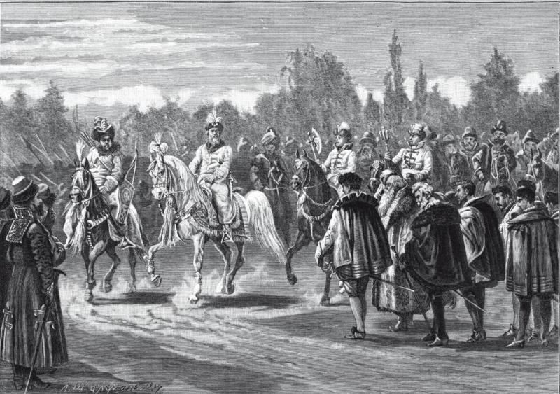 Василий III встречает послов Карла V
