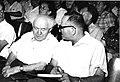 דוד בן גוריון ושלום לוין בוועידת הסתדרות המורים ב-1962.jpg