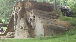 Gal Vihara - The images of Gal Vihara, carved on a single, large rock face.
