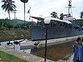 จังหวัดชุมพร แม่ยืนที่เรือรบไทยของเมืองชุมพร at Hat Sai Ri ,By HS3CMI - panoramio.jpg