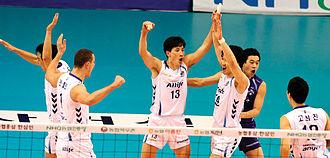 Samsung Sports - Daejeon Samsung Fire Bluefangs players.