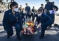 -USS Mount Whitney (LCC 20) medical evacuation drill in Gaeta, Italy, May 7, 2020- (49870680851).jpg
