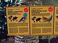 023 Zoo de Barcelona, plafons informatius a l'aviari.jpg
