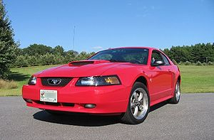2002 Ford Mustang GT. Author created photo. Re...