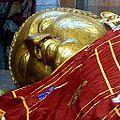 064 Parinirvana Statue Face, Kusinara (9239626994).jpg