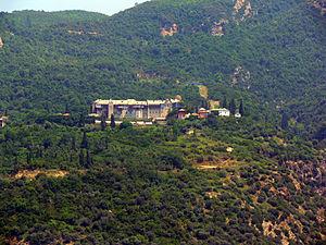 Xeropotamou Monastery - External view of the monastery.