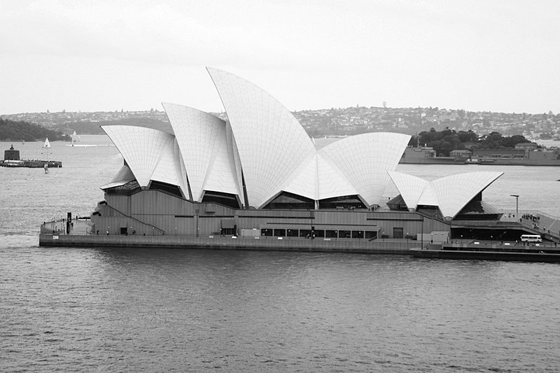 800px 07 Sydney Opera House in black and white%2C Australia - 40+ Black And White Pictures Of Sydney Opera House  Background